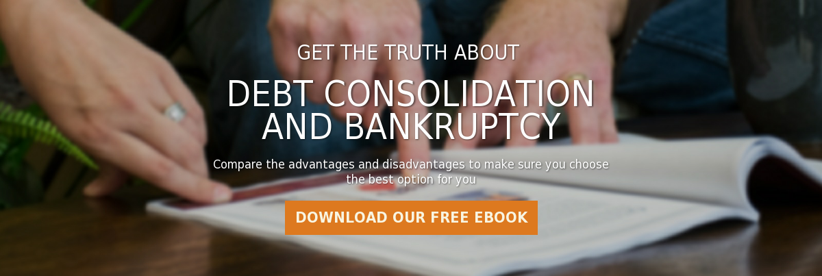 Get the truth about   debt consolidation and bankruptcy  Compare the advantages and disadvantages to make sure you choose the best  option for you Download our Free eBook